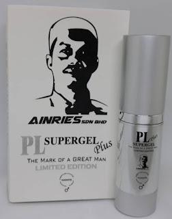 PL Supergel Plus Lambang Lelaki Sebenar - Gel Tahan Lama
