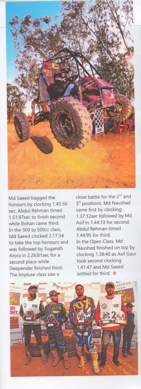Auto Track Magazine Features Moto Dangal Race One 2018 Page 2