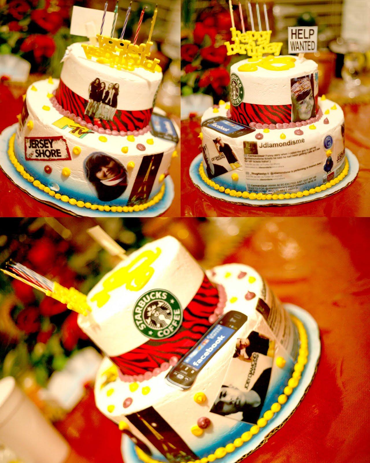 18 Birthday Cake Collage