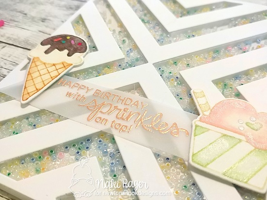 Happy Birthday with Sprinkles on Top Card by Naki Rager | Summer Scoops Stamp Set by Newton's Nook Designs #newtonsnook #handmade
