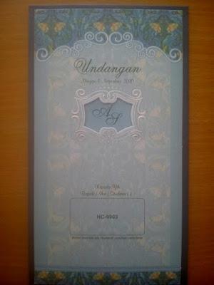 Undangan pernikahan softcover 88109