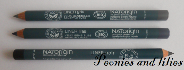 Natorigin pencil eye liners, Naotrigin eyeliners, Natorigin pencil eyeliner in grey, Natorigin pencil eye liner in liliac, Natorigin pencil eyeliner in black, Natorigin pencil eye liner review, Eyeliners for sensitive eyes, Hypoallergic eye liners, Hypoallergic eye make up, Natorigin pencil eye liner swatch