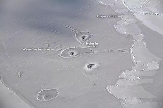 Misteriosos buracos gelo Ártico