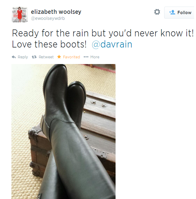 THE APPRECIATION OF BOOTED NEWS WOMEN BLOG : elizabeth woolsey