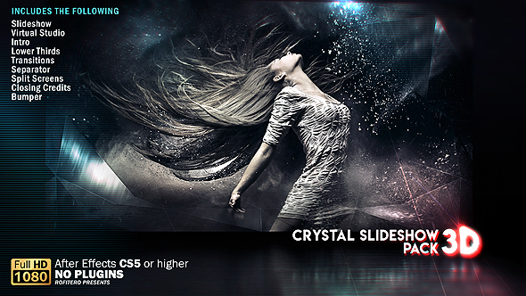 Crystal Slideshow Pack 3D Videohive – Free After Effects Template