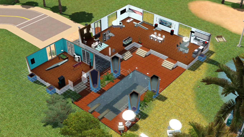 plan de maison avec piscine intrieure
