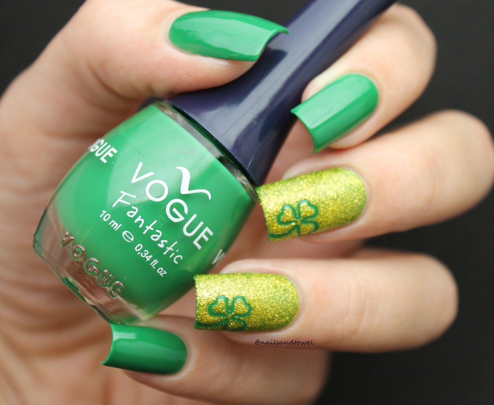 My Nail Art Journal: Shamrock Nails For St. Patrick\'s Day - Ft Whats ...