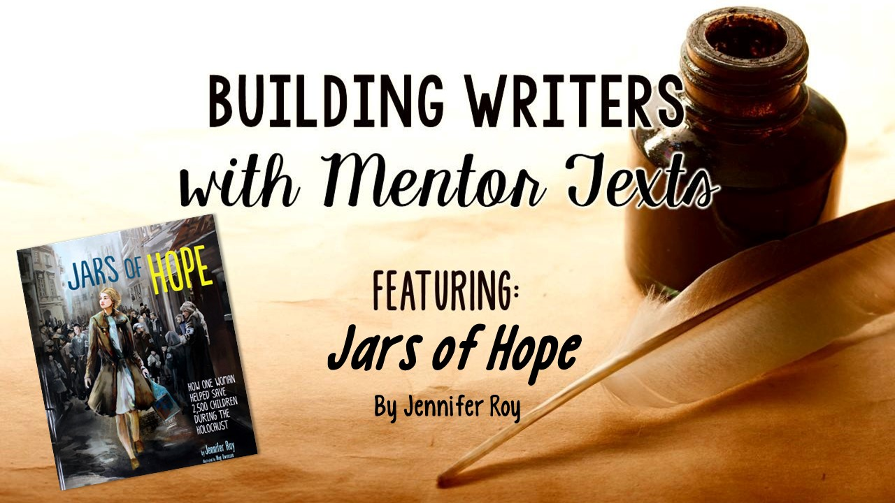 Sentence fluency is a challenging writing trait to teach. Check out this blog post that features a sentence fluency lesson complete with a mentor text Jars of Hope and a FREE handout!