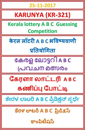 A B C Guessing Compatition KARUNYA KR-321
