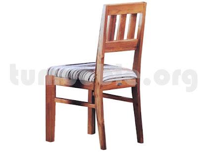 silla tapizada comedor en teca 4090