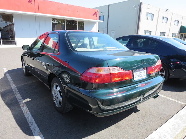 Honda Accord with customer's body repairs AFTER paint job at Almost Everything Auto Body