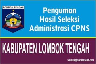 Pengumuman Hasil Seleksi Administrasi Kabupaten Lombok Tengah