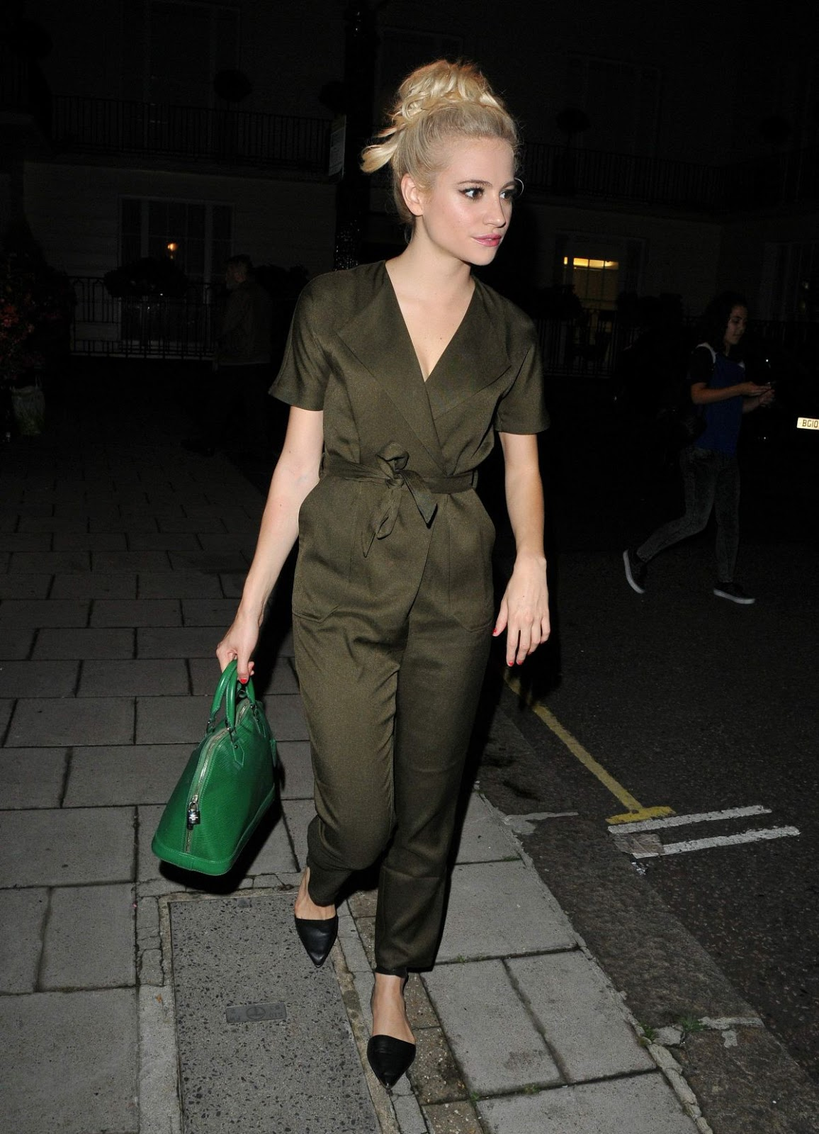 HQ Photos of Pixie Lott Leave Theatre Royal Haymarket, London