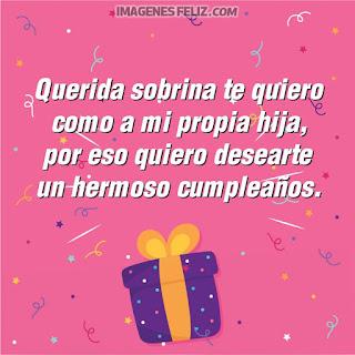 Imágenes feliz cumpleaños, te quiero como a una hija. Tarjetas para enviar por Facebook, en muro o estados