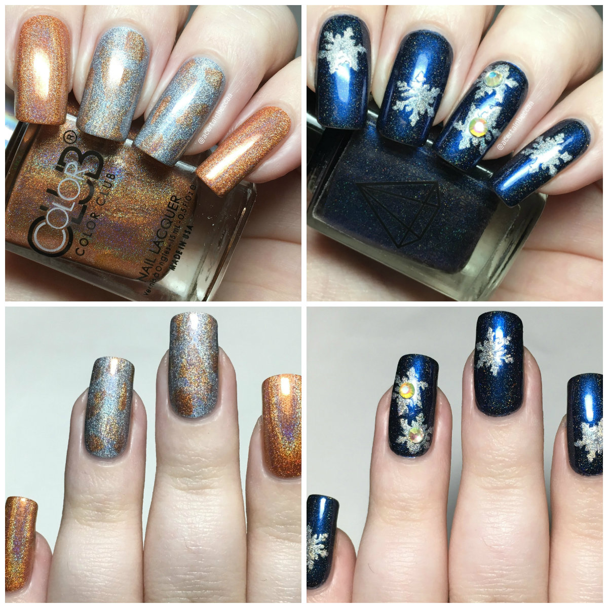 A Certain Becca Nails: December \'Holo Wonderland\' MeeBox Nail Art