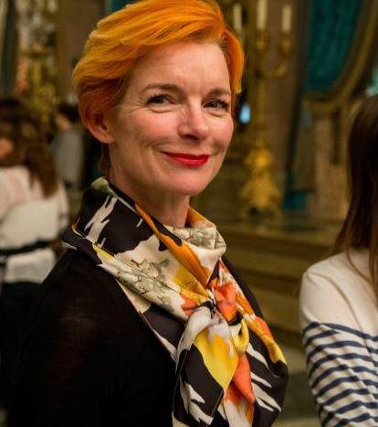A figurinista Sandy Poweel, indicada pelo filme Carol e Cinderella