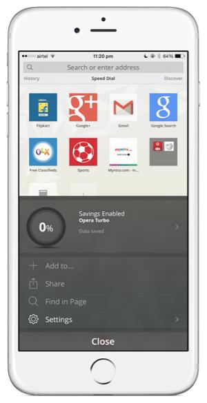 Opera Mini untuk iPhone 5