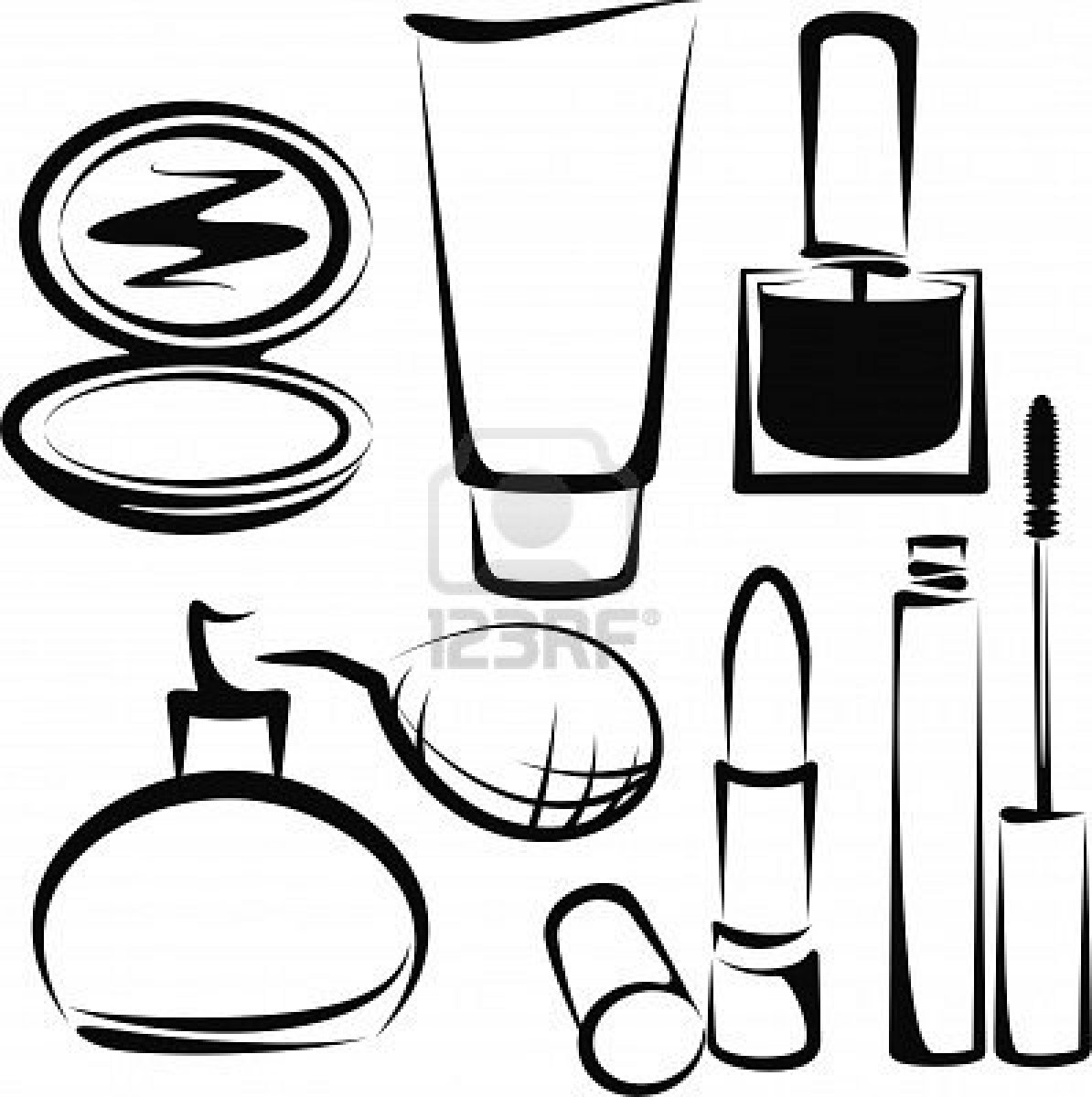 Coloring Pages Makeup And Lipstick Coloring Pages