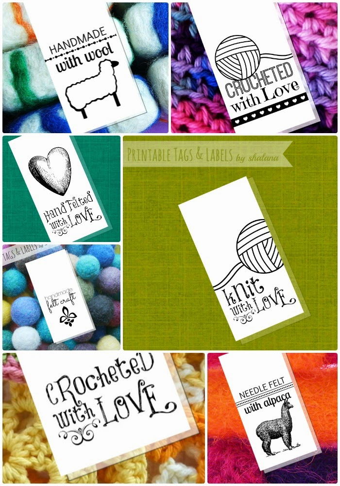 tags labels and branding for your handmade fiber crafts knit crochet felts stitched