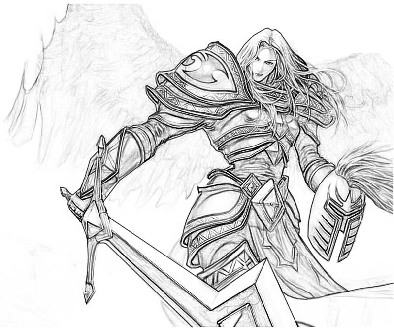 League of legends kayle angel mario for Dark angel coloring pages