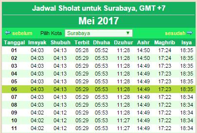 Jadwal Imsakiyah Ramadhan 1438 H 2017 | Lengkap seluruh wilayah Indonesia