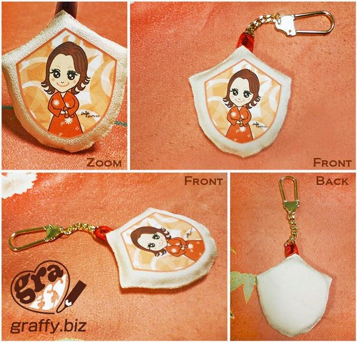 似顔絵きものキーホルダー Caricature Kimono Keychain