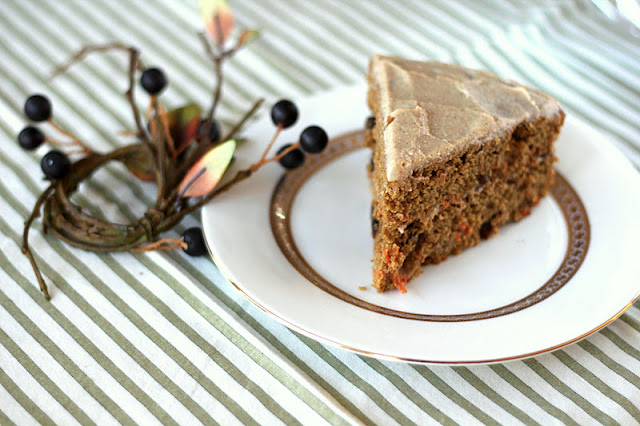 This Healthy Carrot Cake with Maple Cinnamon Frosting is so soft, fluffy, and sweet, it doesn't taste guilt free, whole grain, and low sugar one bit!