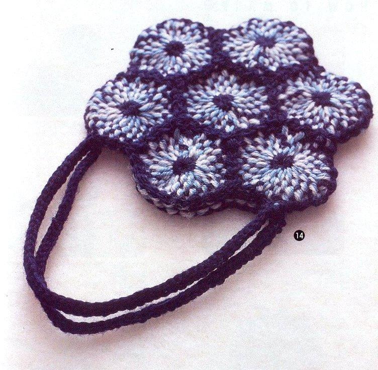 Bolso de Flores con Telar