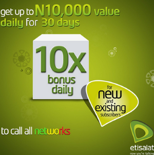 #SBORevamp: Get 10 times Your Recharge Bonus On Etisalat Super Bonus Offer