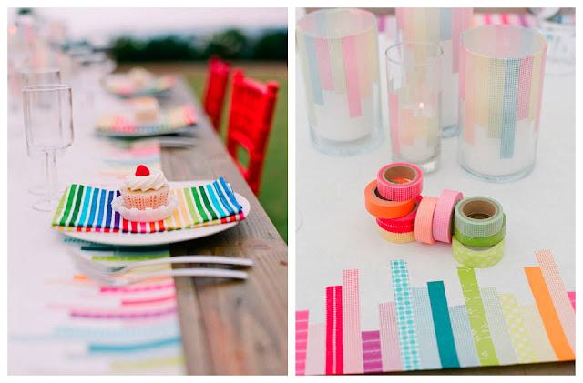 Una mesa con washi tape - Decorar con washi tape ...