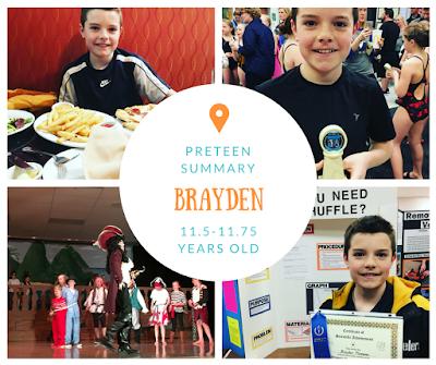 Brayden Preteen Summary {11.75 Years}