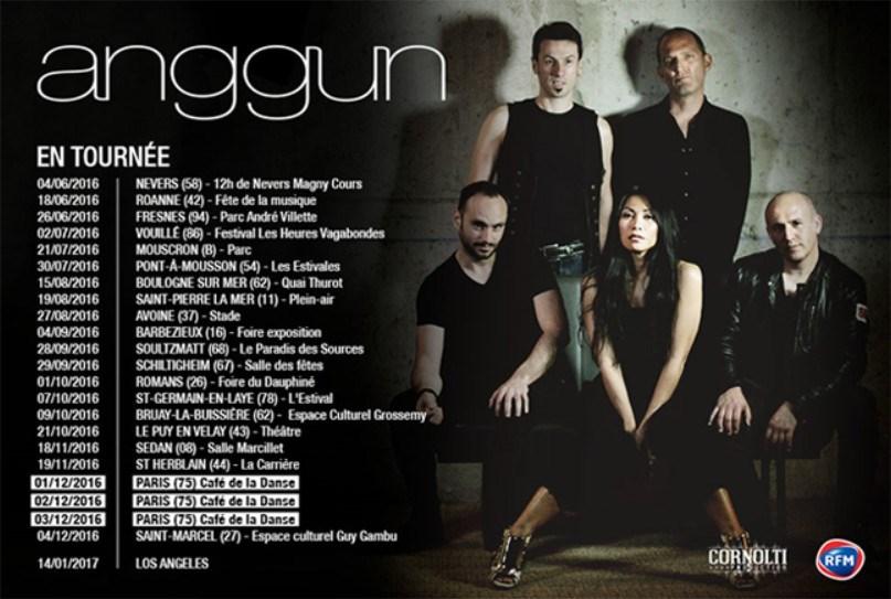 Anggun : tournée des festivals 2016/2017 partout en France