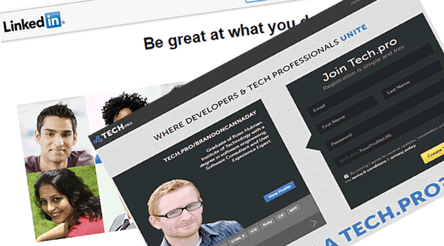 Expose your self by making your professional profile in LinkedIn & tech.pro 1