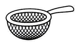 cocina utensilios colorear dibujos copa