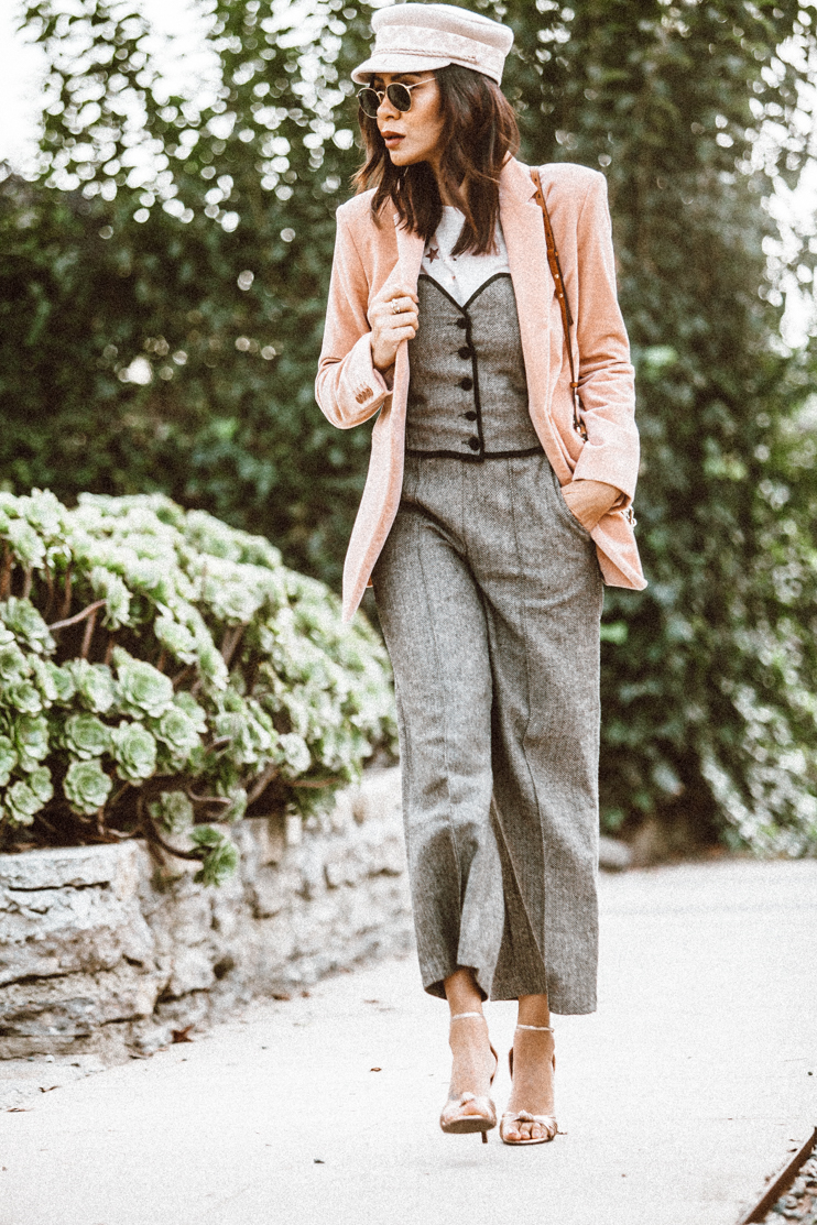 Therory blazers, Blush tone blazer, storets sets, lack of color hats, chloe bag, chloe Faye bag, Fashion Blogger, bloggers of color, black bloggers, creole fashion bloggers, Taye Hansberry blog,