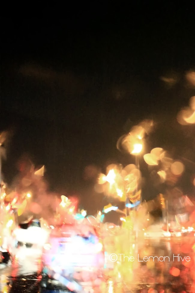 Bokeh Lights and traffic on a wet night