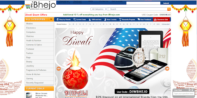 US online shopping from India