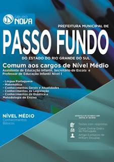 Apostila Prefeitura de Passo Fundo RS 2016