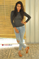 Actress Bhanu Tripathri Pos in Ripped Jeans at Iddari Madhya 18 Movie Pressmeet  0026.JPG