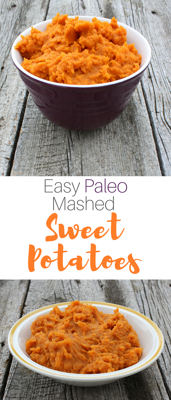 Paleo Mashed Sweet Potatoes Recipe