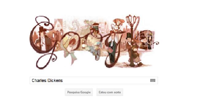 Doodle da Google em Homenagem a Charles Dickens 280da2e203c5b