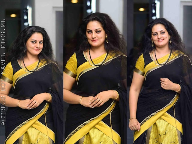 Suchithra Nair Hot And Sexy Photos In Saree