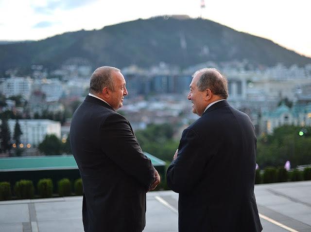 Sargsyan se reunió con el presidente georgiano Giorgi Margvelashvili