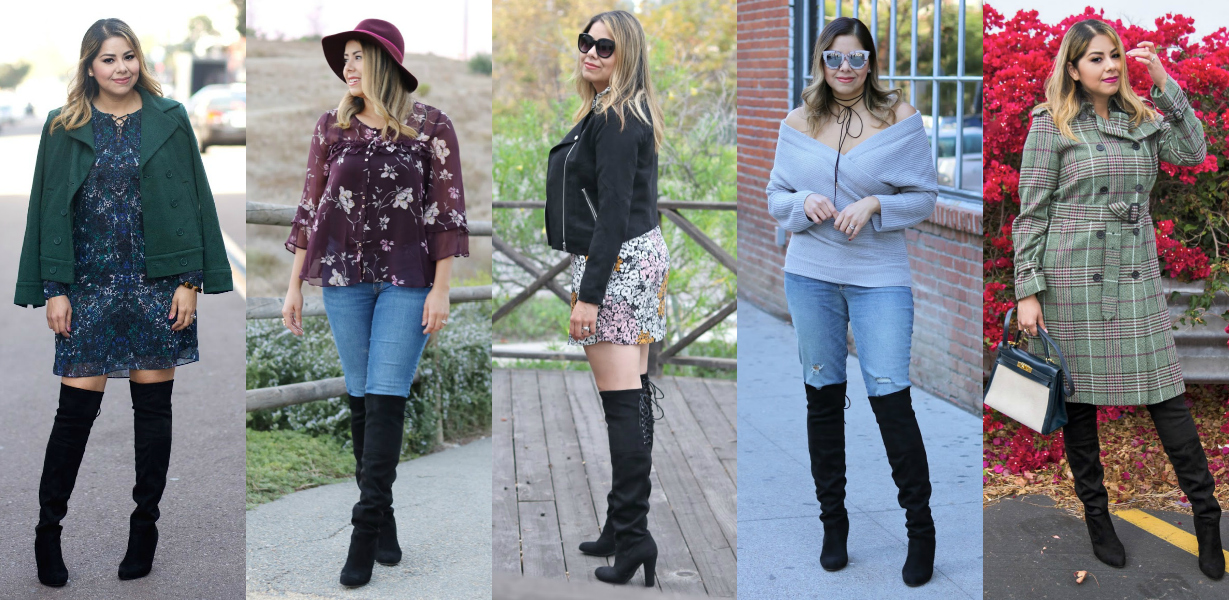 5 Ways to Wear Over the knee boots, san diego fashion blogger, how to wear over the knee boots