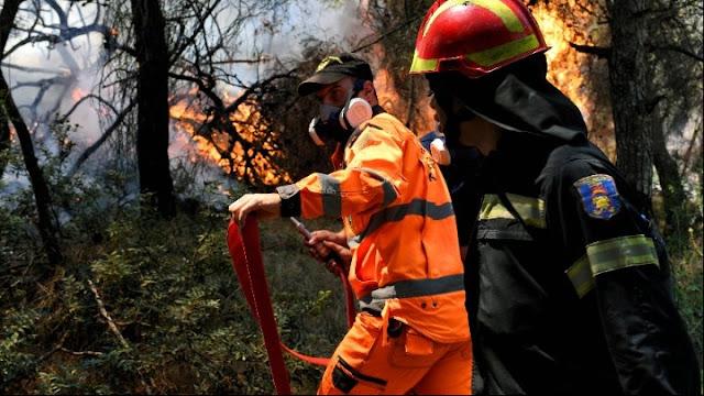 Μάχη των πυροσβεστών όλη τη νύχτα στις Κεχριές - 4.000 κάτοικοι έχουν απομακρυνθεί από τα σπίτια τους