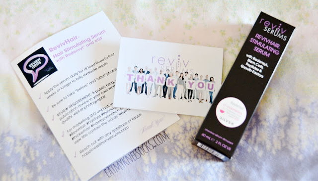 Recently, I've been testing out an innovative hair serum from Reviv Serums, a San Francisco-based skin and haircare company. I'll be reviewing my experience with their RevivHair Stimulating Serum, a popular product that claims to deliver stronger, healthier, fuller, and thicker hair. - Eat My Knee Socks / Mimchikimchi