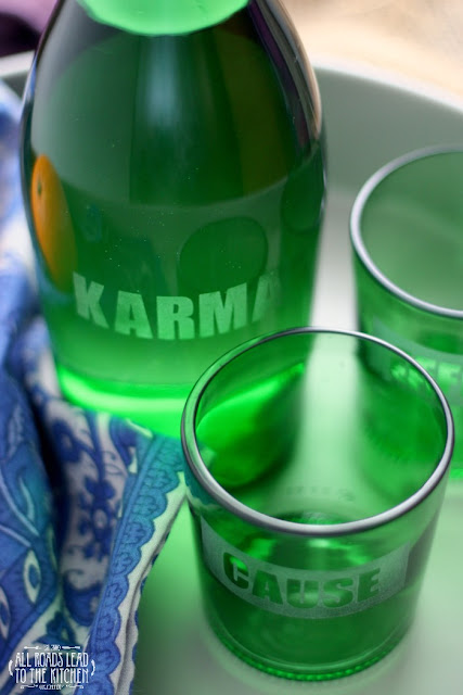 Karma Effect Upcycled Carafe and Glasses