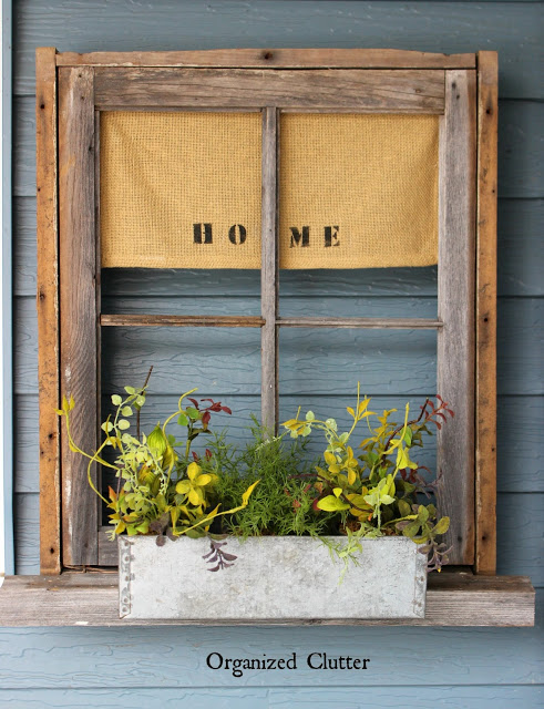 Rustic Junk Garden Window Box organizedclutter.net