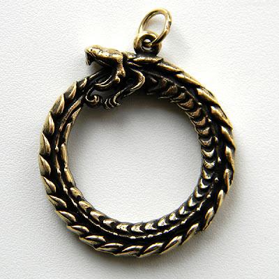 кулон уроборос змей купить амулет уроборос у славян в интернет магазине оберегов